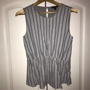 J. Crew white and grey striped Shirt